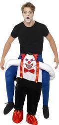 Sinister Clown Piggy Back Adults Costume