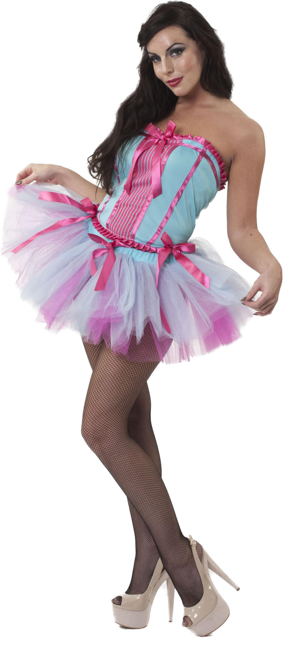 Ladies Silky Smooth Showgirl Dress Fancy Dress Burlesque Womens Adults Costume