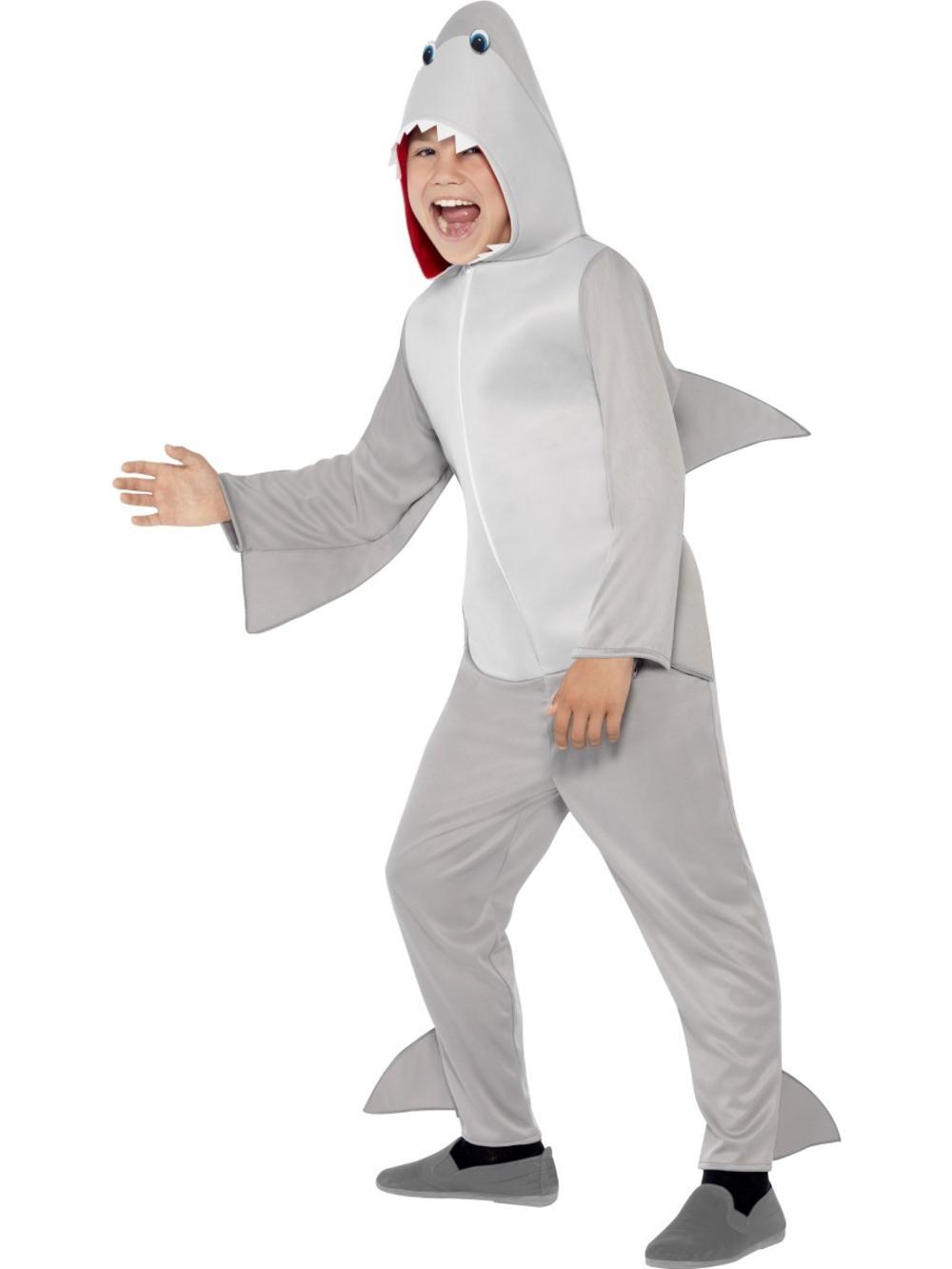 Shark Kids Fancy Dress Halloween Jaws Sea Creature Animal Boys Girls Costume New