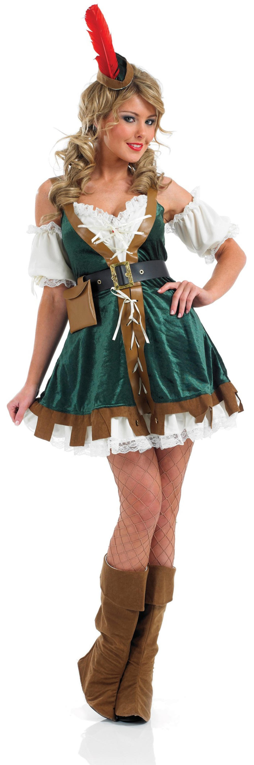 Sexy Robin Hood Ladies Fancy Dress Medieval Fairy Tale Adults Book Day Costume