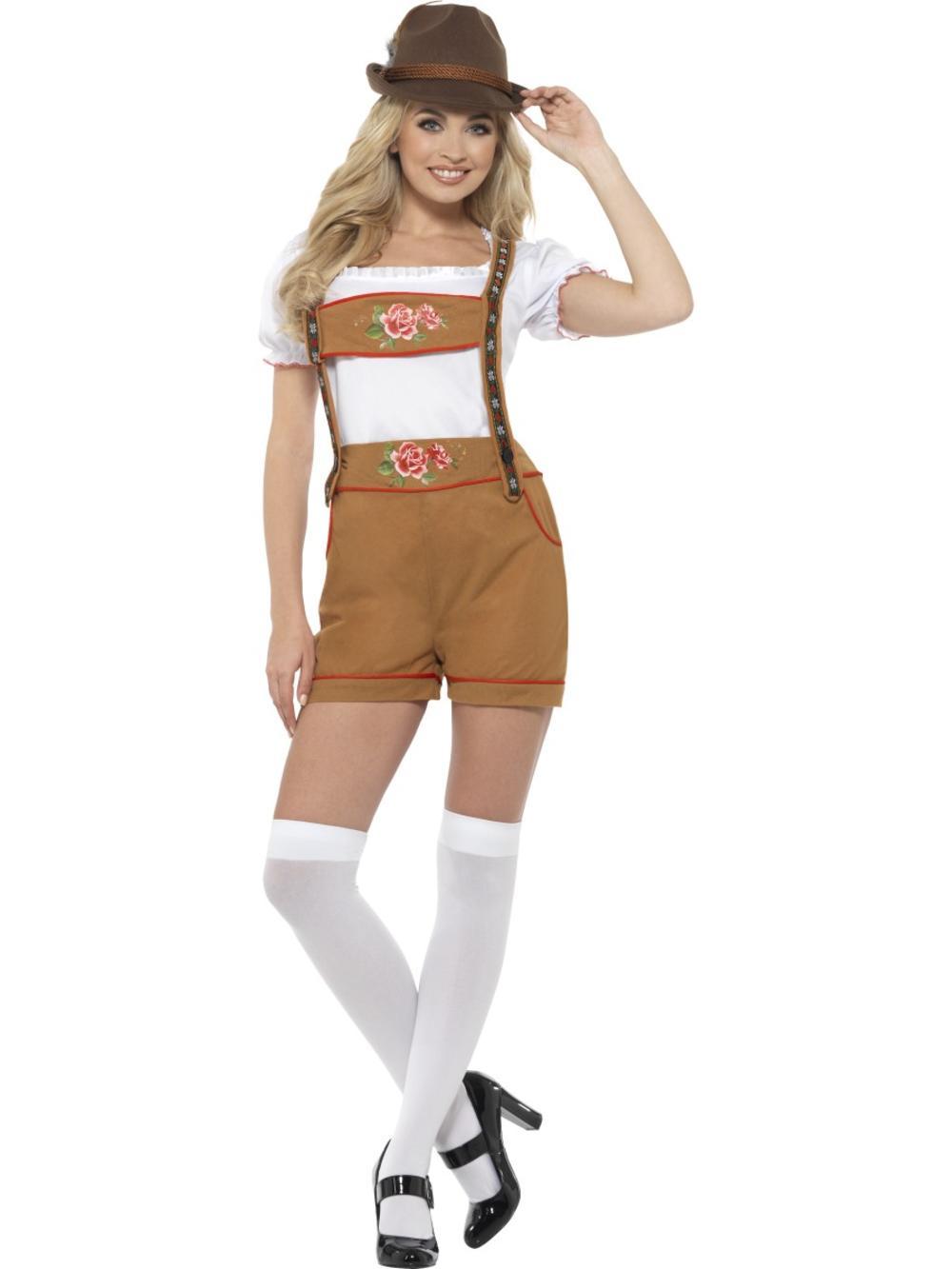 Sexy Bavarian Beer Girl Ladies Fancy Dress German Beer Oktoberfest Adult Costume