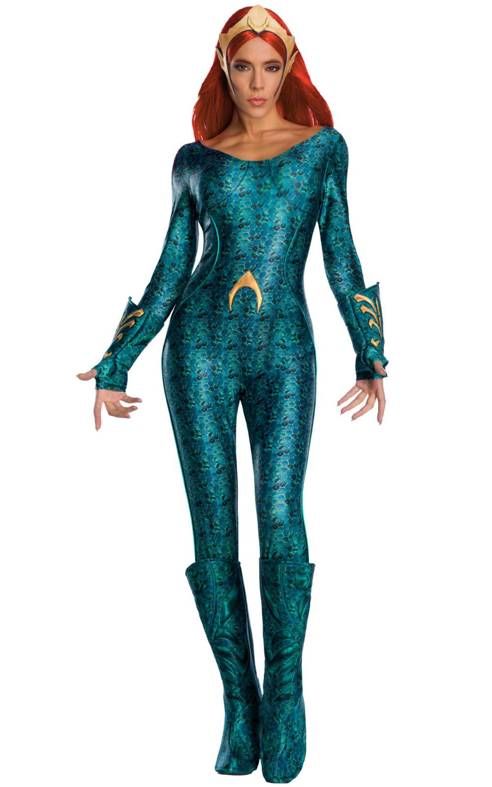 Secret Wishes Mera Ladies Fancy Dress Aquaman Superhero DC Comic Adults Costume
