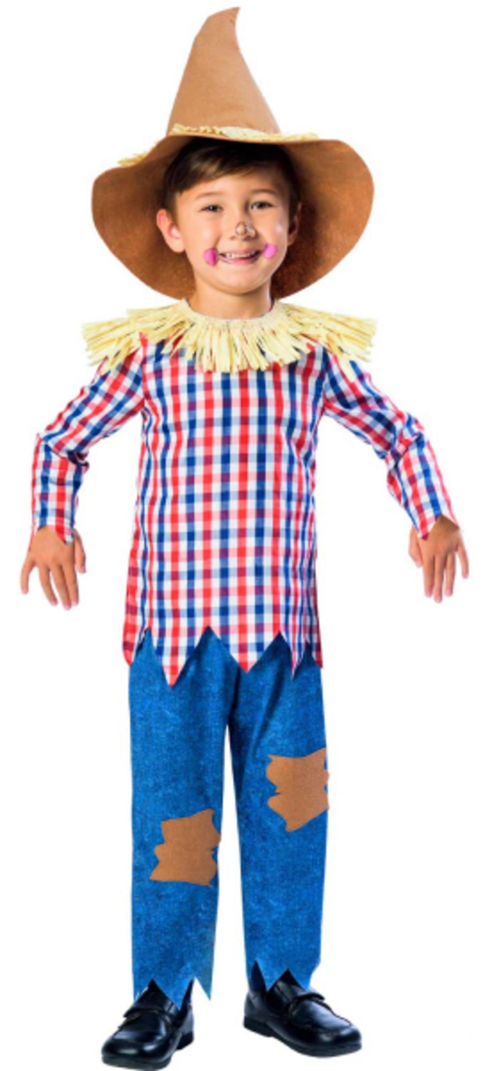 Scarecrow Boys Fancy Dress Oz Fairytale Book Day Week Kids Childrens Costume New