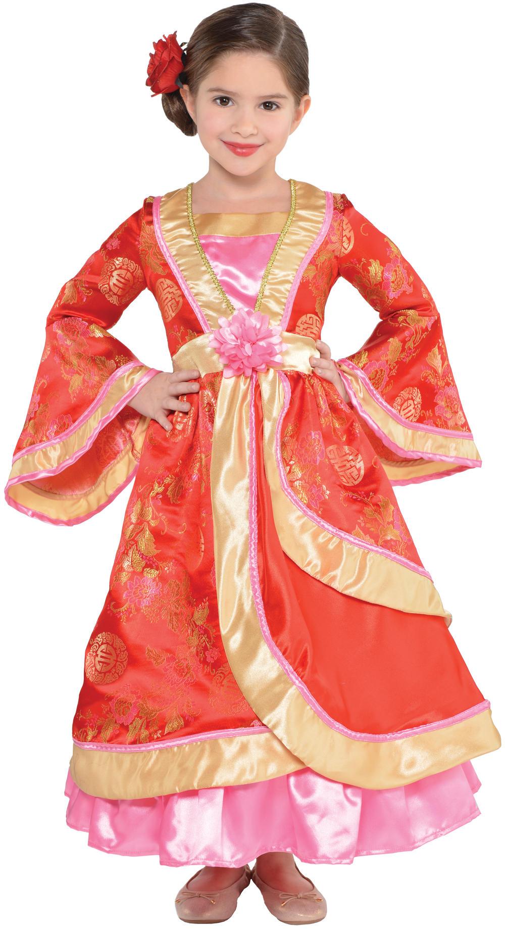 Oriental Princess Girls Fancy Dress National Chinese Childrens Kids Costume New