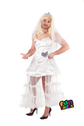 Run Away Bride Novelty Mens Fancy Dress Hen Stag Night Funny Adults Costume New