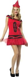 Ruby Red Crayola Glitter Dress Women's Costume
