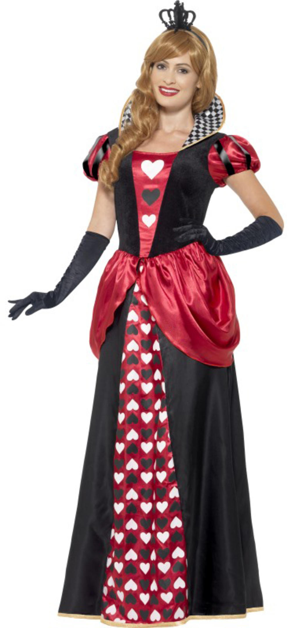 Royal Red Queen of Hearts Ladies Fancy Dress Fairytale Book Day Adults Costume