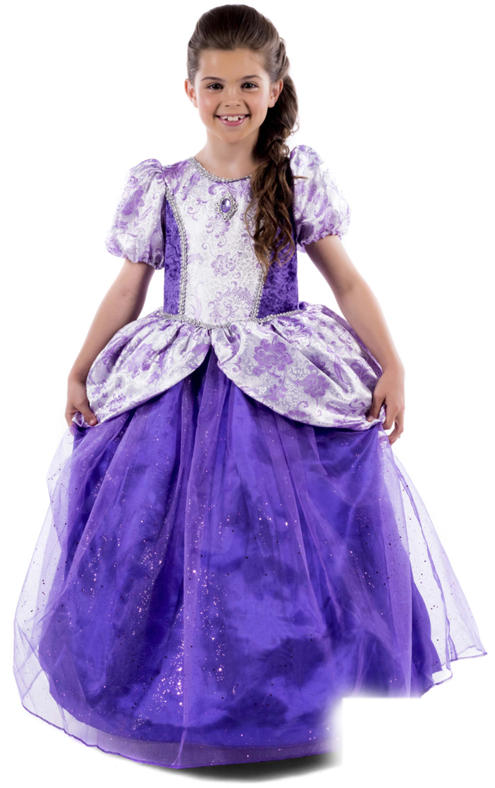 Royal Ball Gown Girls Fancy Dress Fairy Tale Princess Kids Book Day Costume