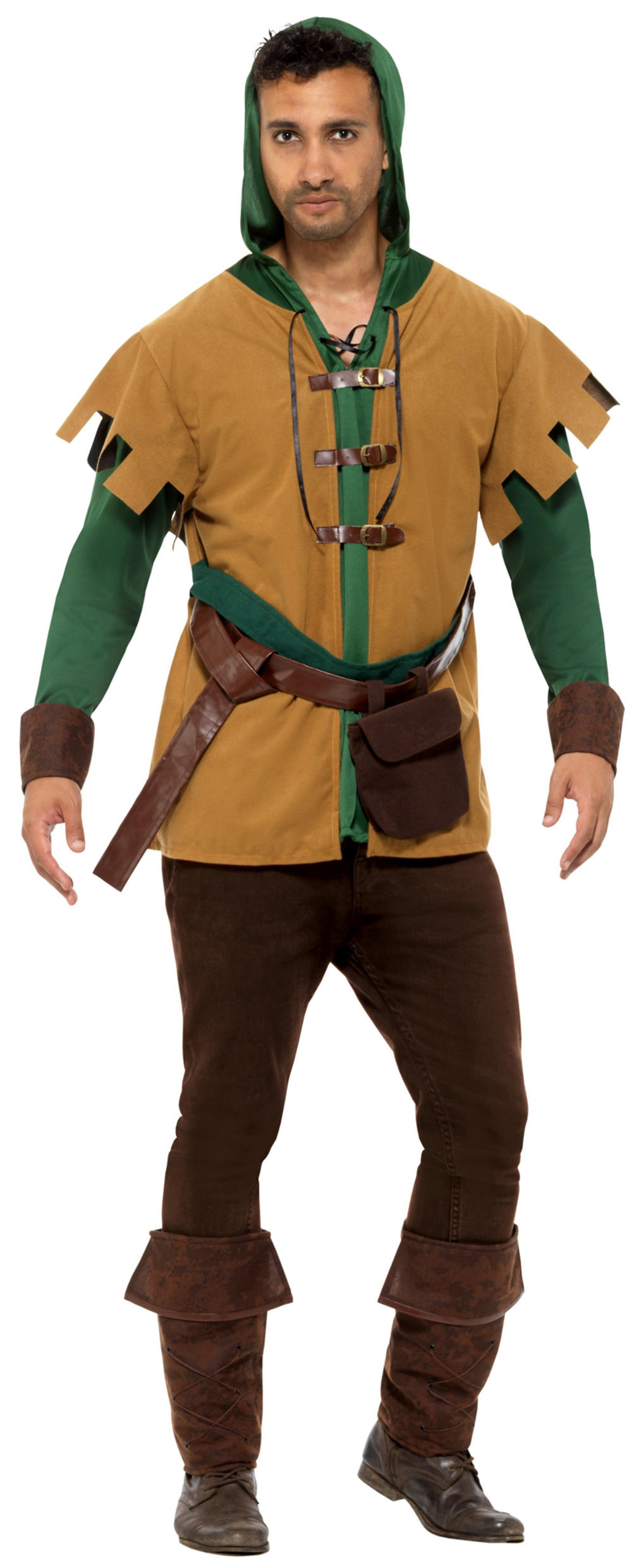 Robin Hood Mens Fancy Dress Medieval Hunter Theif Adults World Book Day Costume