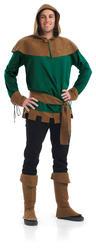 Robin Hood Mens Fancy Dress Book Week Fairytale Adult Costume Medieval Outfit