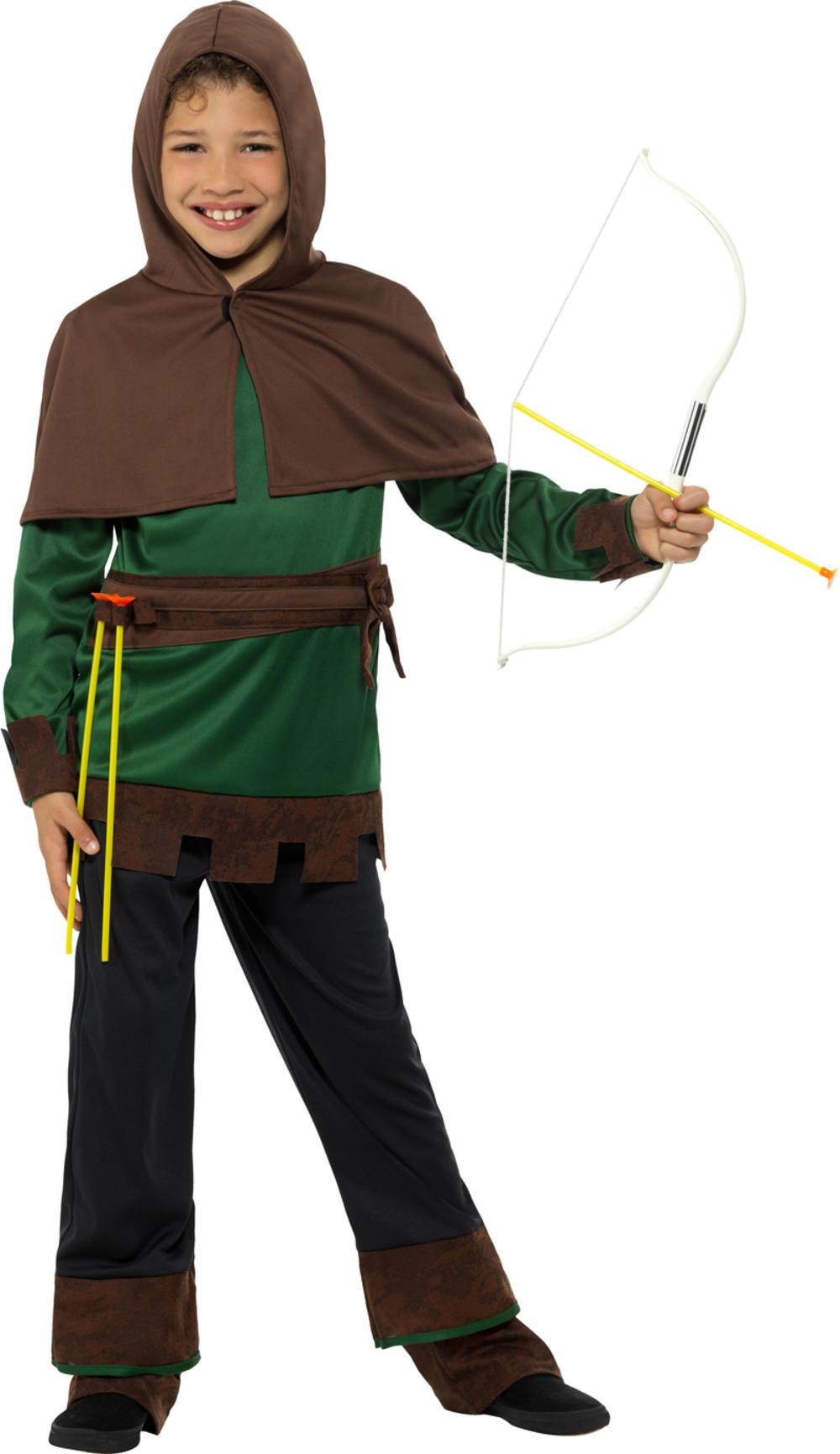 Robin Hood Boys Fancy Dress Fairy Tale World Book Day Childrens Kids Costume New