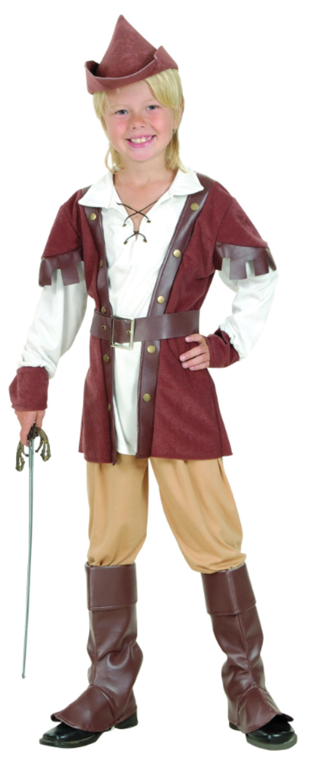 Robin Hood Boys Fancy Dress Medieval Story Book Day Kids Childs Costume Outfit