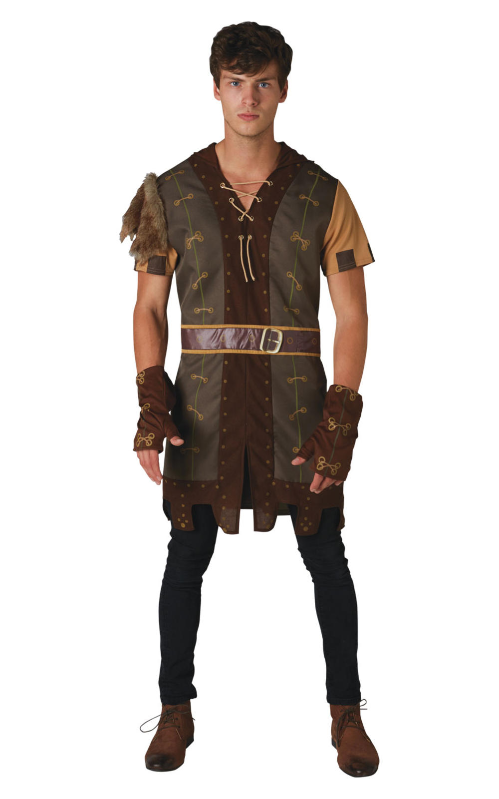 Robin Hood Mens Fancy Dress Medieval Hunter Adults World Book Day Costume Outfit