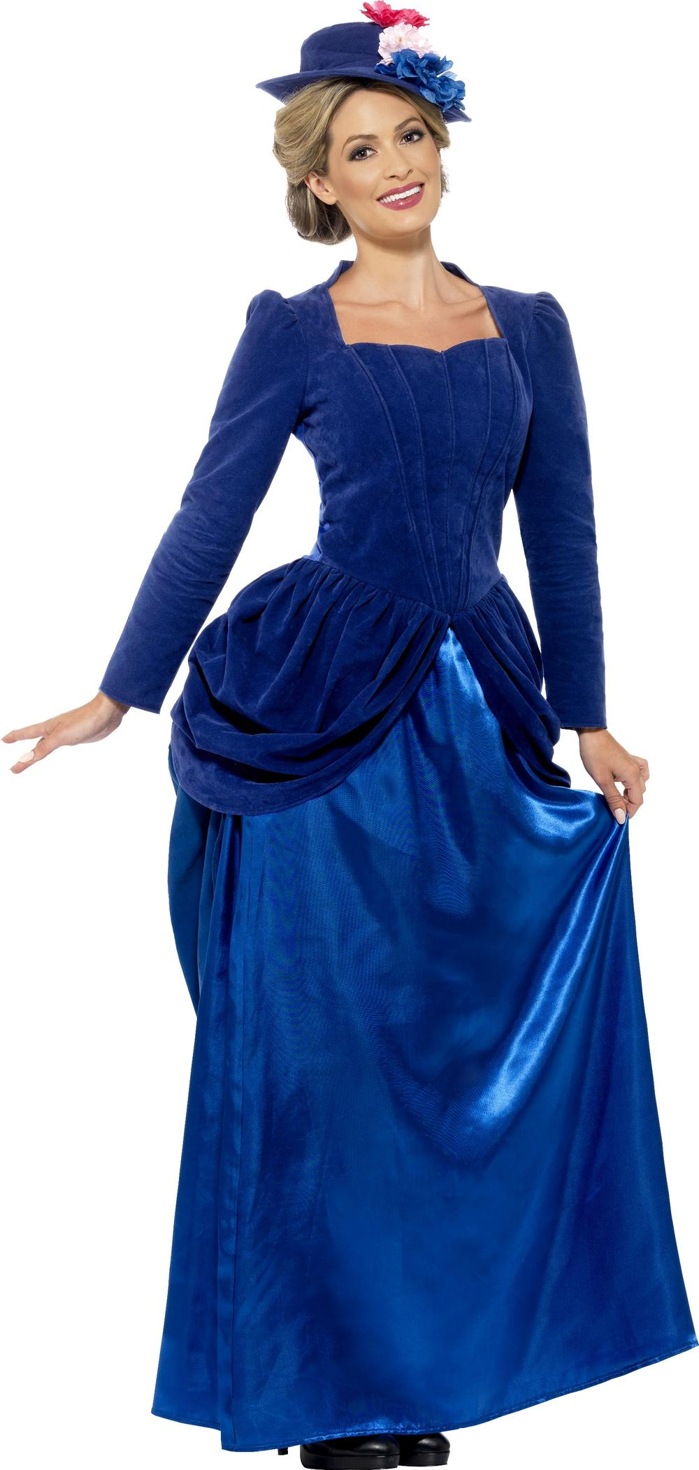 Deluxe Victorian Vixen Ladies Fancy Dress Edwardian Nanny Adults Costume Outfit