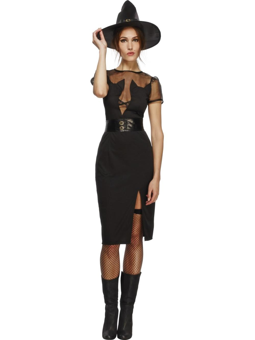 Fever Enchanting Cat Witch Ladies Halloween Spooky Creepy Womens Adults Costume