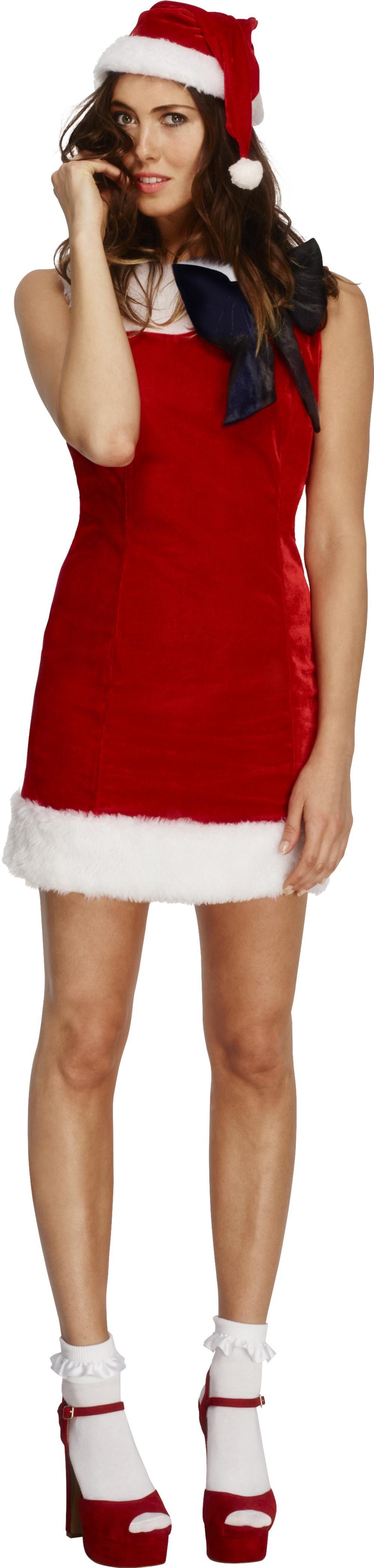 Fever Miss Santa Cutie Claus Ladies Fancy Dress Christmas Womens Adults Costume