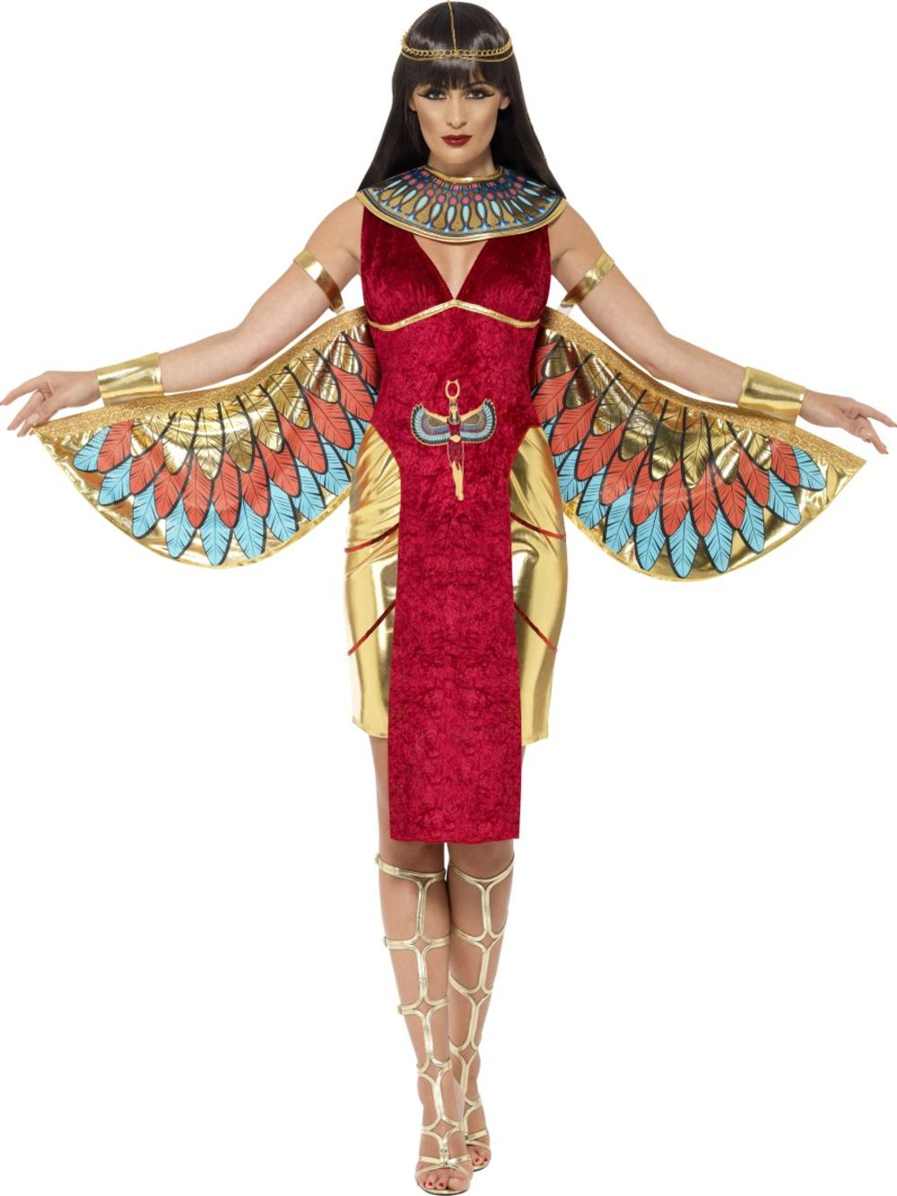 Cleopatra Queen Ladies Fancy Dress Ancient Egyptian Goddess Adult Costume Outfit
