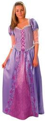 Deluxe Rapunzel Ladies Fancy Dress Fairy Tale Disney Princess Adults Costume
