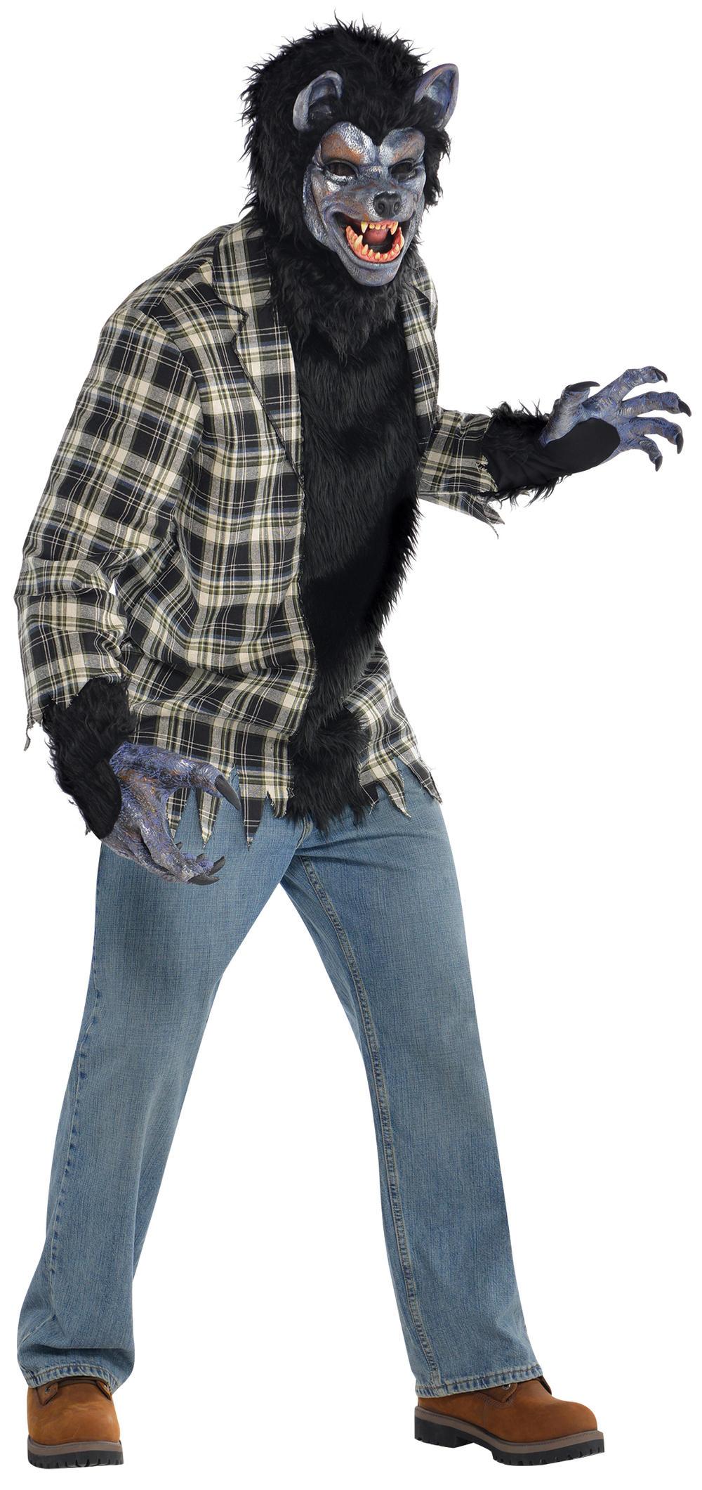 Rabid Werewolf Mens Halloween Fancy Dress Adults Horror Movie Costume Outfit New