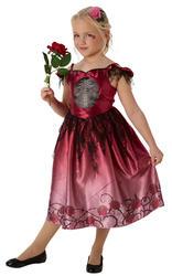 Skeleton Zombie Bride Girls Fancy Dress Rags and Roses Halloween Kids Costume