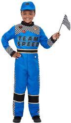 Racing Car Driver Boys Fancy Dress Grand Prix Kids Childs Sports Uniform Costume