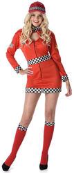 Racing Girl Ladies Fancy Dress Car Racer Sports Uniform Womens Adult Costume New