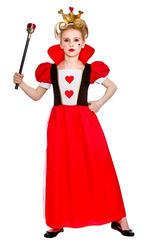 Queen of Hearts Girls Fancy Dress Storybook Fairytale Wonderland Childs Costume