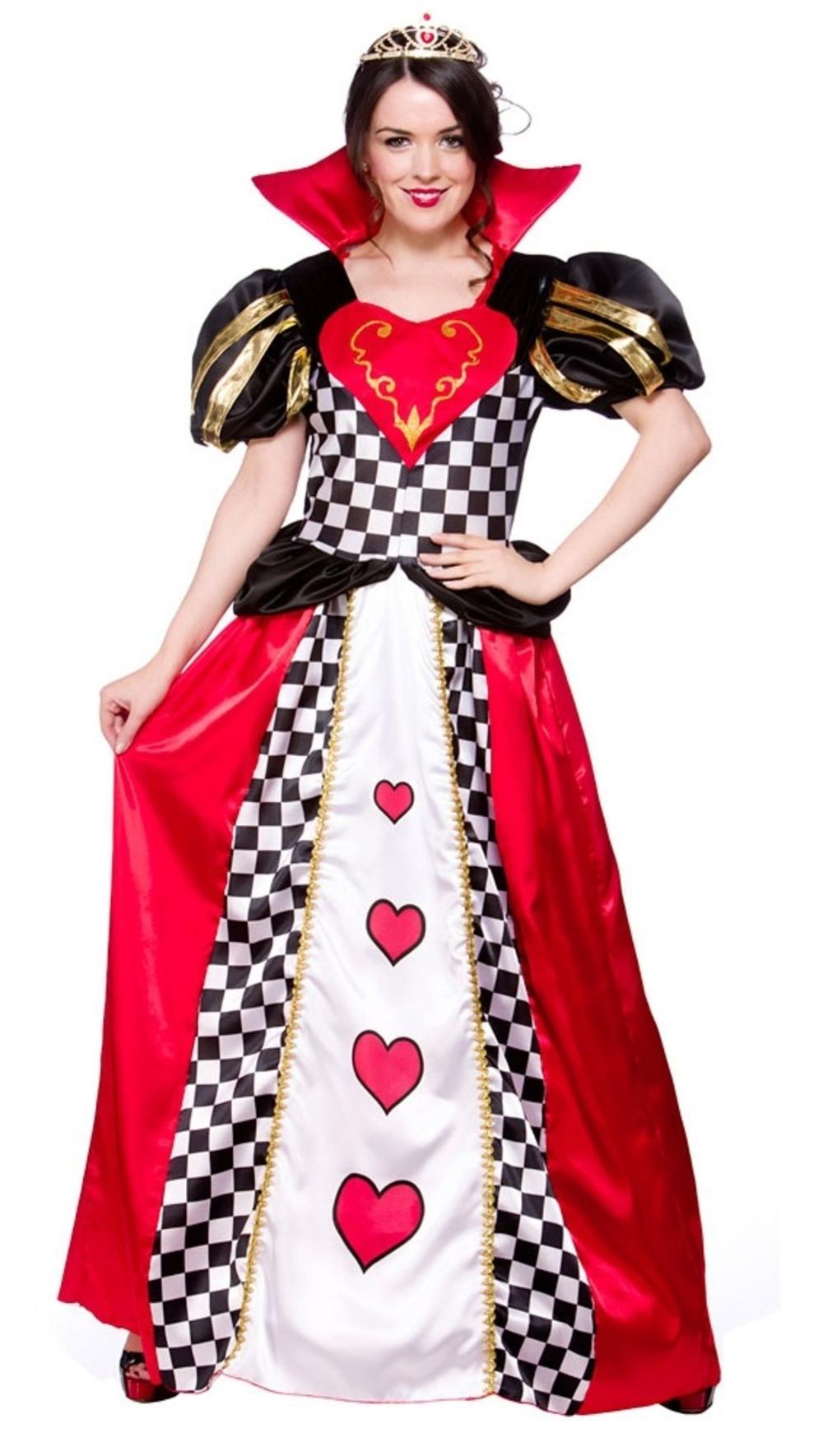 Queen of Hearts Fancy Dress Fairytale Ladies Alice in Wonderland Book Costume