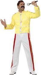 Freddie Mercury Queen Mens Fancy Dress Celebrity Rock Star Icon Adults Costume