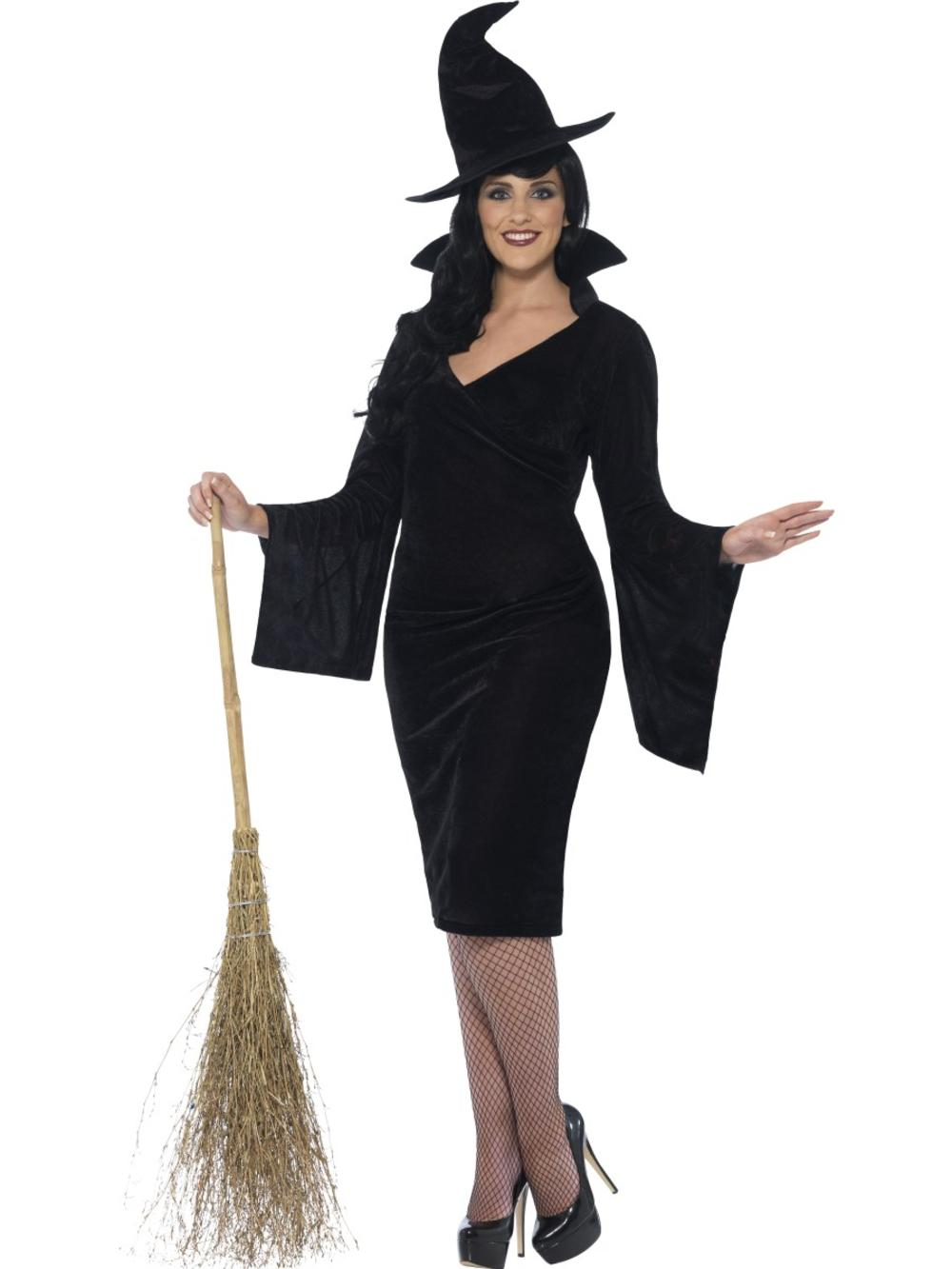 Wicked Witch Ladies Fancy Dress Spooky Halloween Adults Plus Size Costume Outfit
