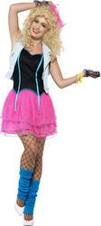 80's Wild Child Ladies Fancy Dress Madonna Celebrity 1980s Womens Adults Costume