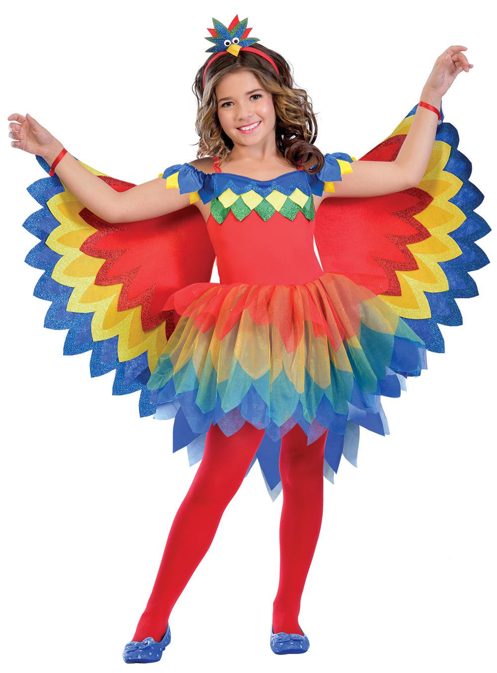 Pretty Parrot Fairy Girls Fancy Dress World Book Day Anime Kids Childs Costume
