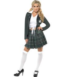 Preppy School Girl St Trinians Fancy Dress Ladies Uniform Womens Costume Outfit