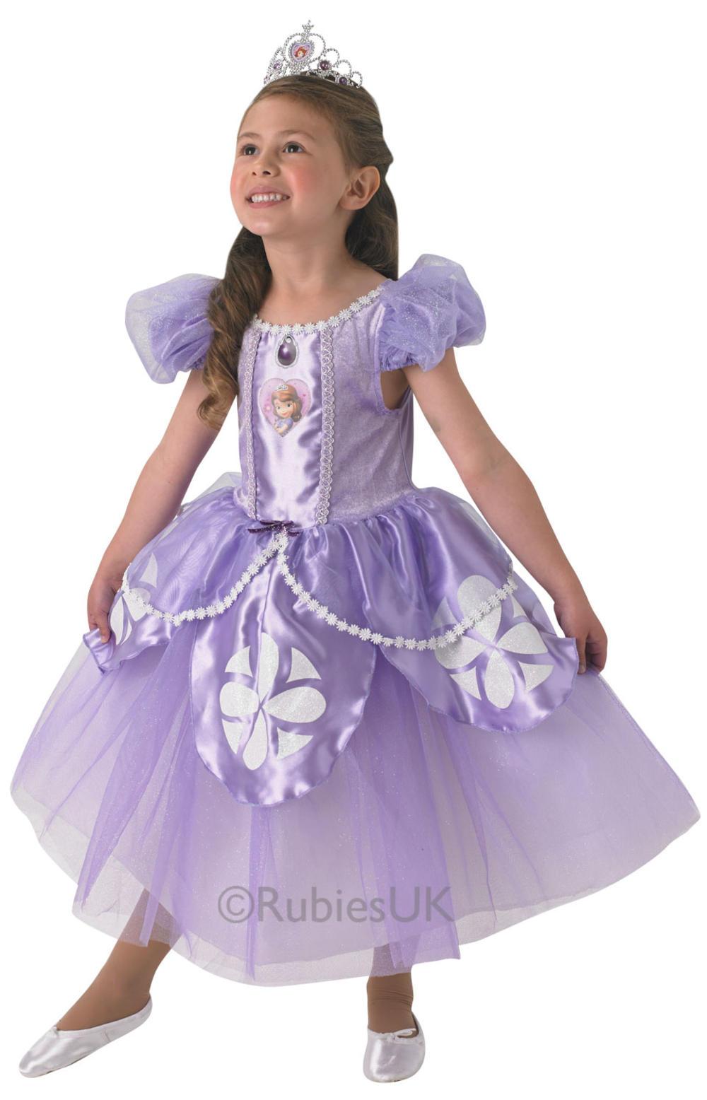 Disney Premium Sofia The First Girls Fancy Dress Princess Kids Deluxe Costume