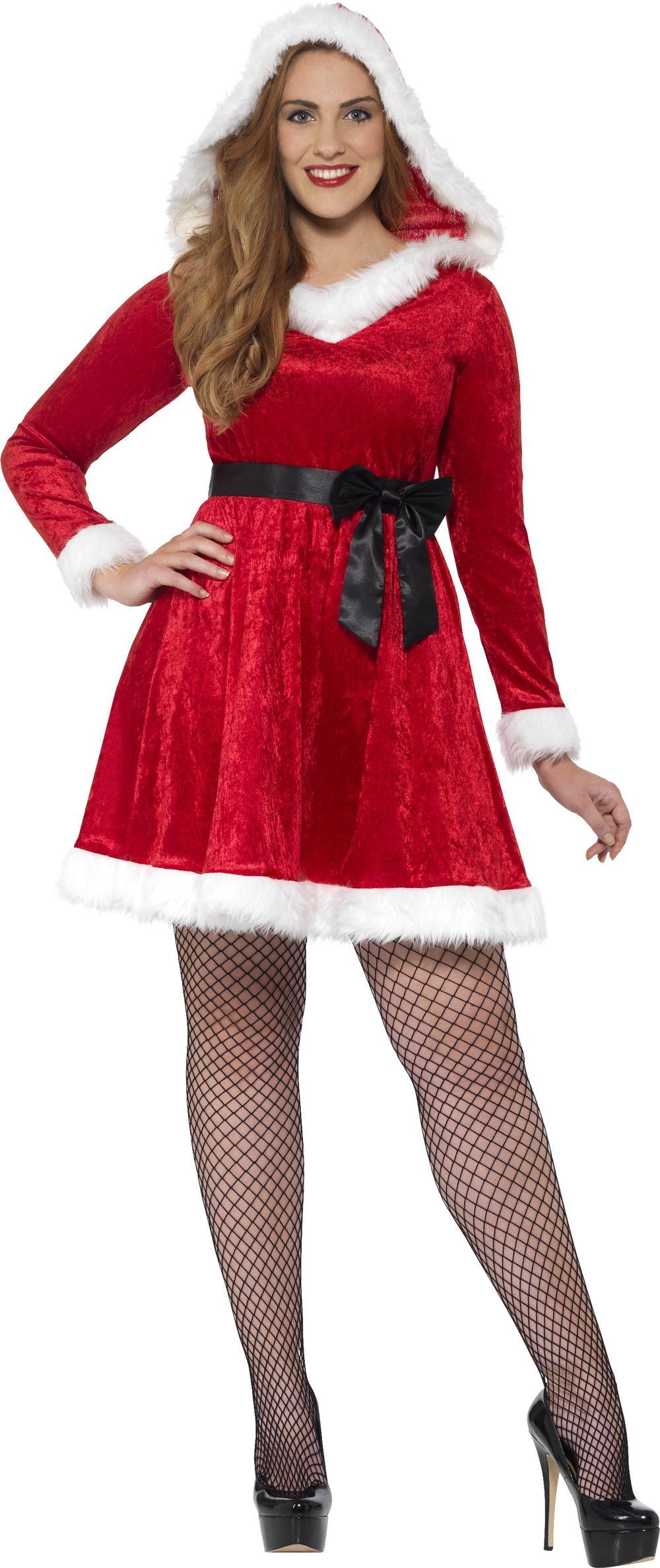 Miss Santa Costume Plus Size Ladies Fancy Dress Adults Christmas Costume Outfit