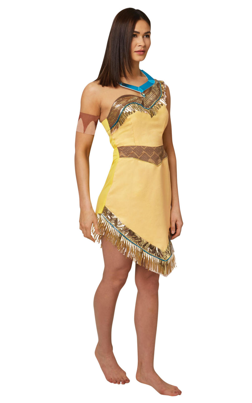 Pocahontas Ladies Fancy Dress Native American Indian Disney Princess Costume New