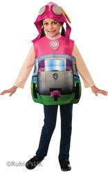 Paw Patrol Skye + Pouch Girls Fancy Dress Pilot Dog Kids Childs Costume Outfit