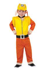 Paw Patrol Rubble Kids Fancy Dress Boys Childs Cartoon TV Dog Costume Outfit New