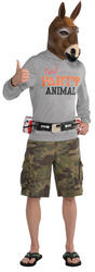 Party Jackass Mens Fancy Dress Donkey Animal Adults Funny Stag Do Costume Outfit