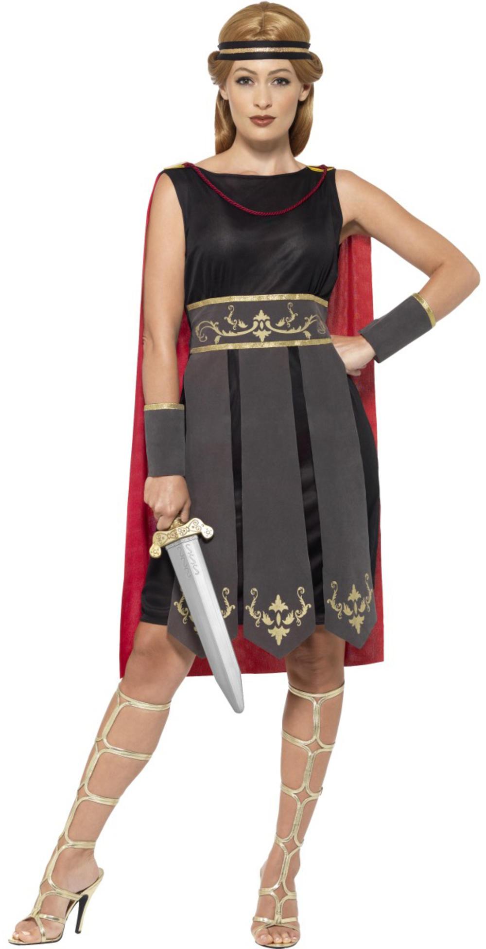 Roman Warrior Ladies Fancy Dress Ancient Greek Gladiator Womens Adults Costume