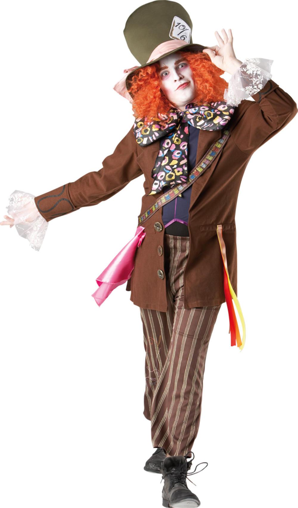 Mad Hatter Alice In Wonderland Mens Fancy Dress Adult Disney Book Costume Outfit
