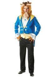 Beast Mens Fancy Dress Disney Beauty & The Beast Fairy Tale Costume Adult Outfit