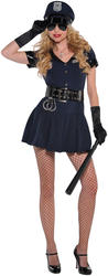 Sexy Police Officer Ladies Cops Costume Occupation Uniform Womens Fancy Dress