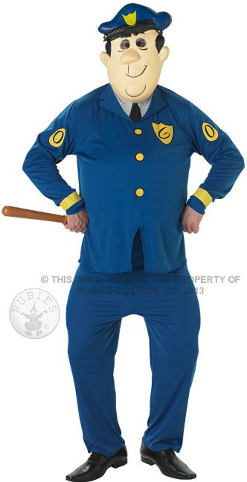 Officer Dibble + Mask Mens Fancy Dress Top Cat Cartoon Character Adults Costume