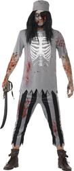 Zombie Pirate Mens Fancy Dress Halloween Dead Buccaneer Adults Costume Outfit