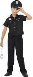 US Cop Boys Fancy Dress American Policeman Uniform Kids Childs Halloween Costume