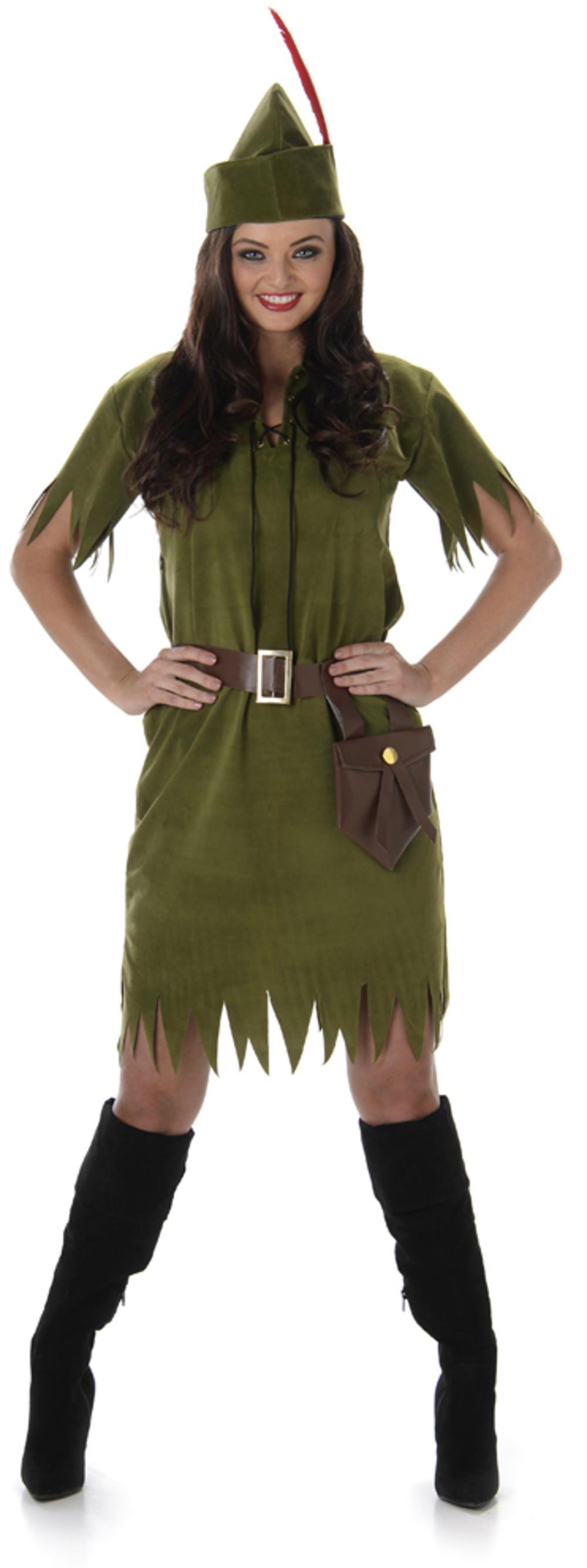 Robin Hood Neverland Girl Ladies Fancy Dress Medieval Book Adults Womens Costume