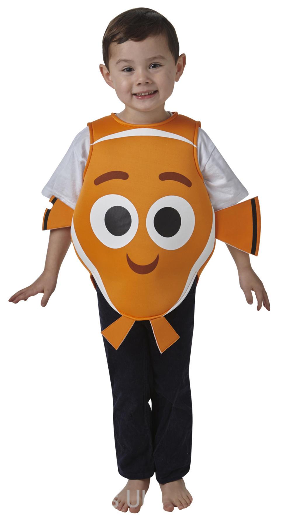 Finding Nemo 2-6 Years Kids Fancy Dress Fish Disney Childrens Boys Girls Costume