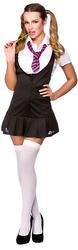 Naughty Schoolgirl Ladies Fancy Dress School Girl Uniform Womens Costume Outfit