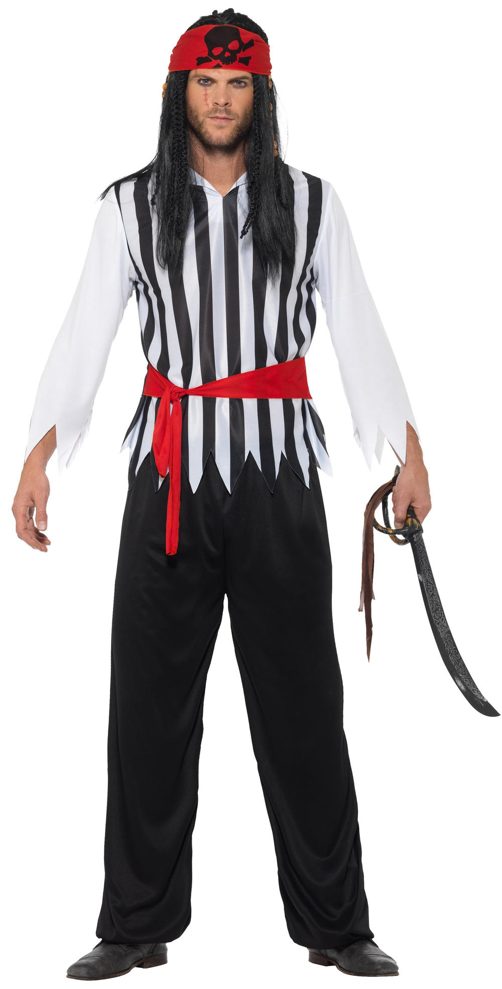 Pirate Mens Fancy Dress Caribbean Buccaneer World Book Dayeek Adults Costume New